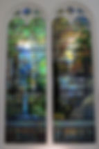 Stained glass panels by Tiffany 1905