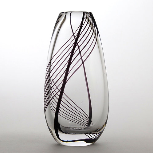 Vicke Lindstrand for Kosta Glass Vase with Double Spiral c1950s