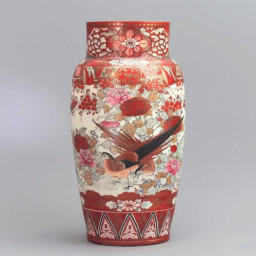 Large Japanese Meiji Period Kutani Signed Vase c1895
