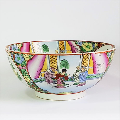 Vintage Chinese Famille Rose Bowl (25cm)