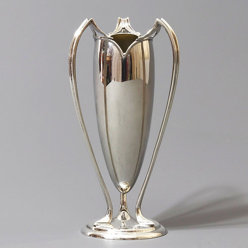 Silver Art Nouveau Vase by Walker & Hall Sheffield 1905