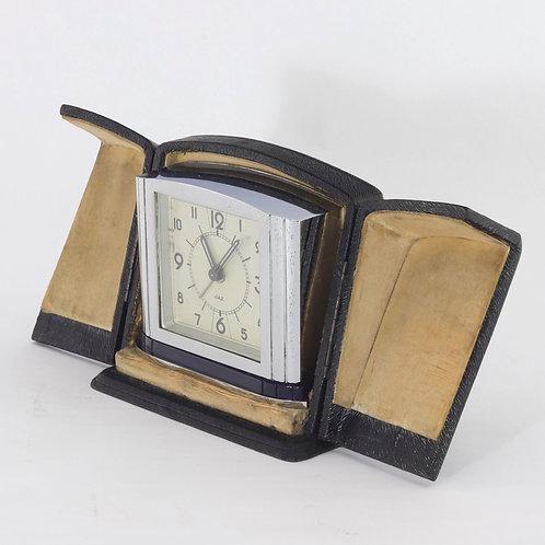 Art Deco Cased Travel Alarm Clock by Jaz