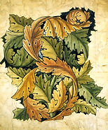 William Morris acanthus design for wallpaper 1875