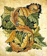 William Morris acanthus design for wallpaper 1875