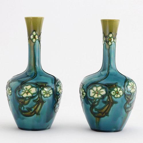 Pair of Minton Secessionist Ware Vases No. 33 c1900