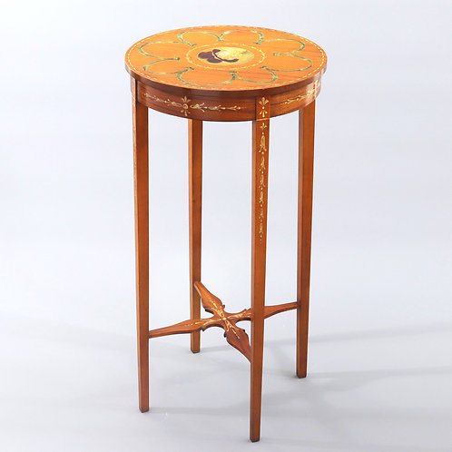 Edwardian Polychrome Painted Satinwood Occasional Table