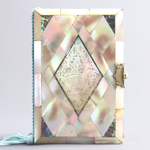 Mother-of-Pearl and Abalone Pocket Notebook c1880