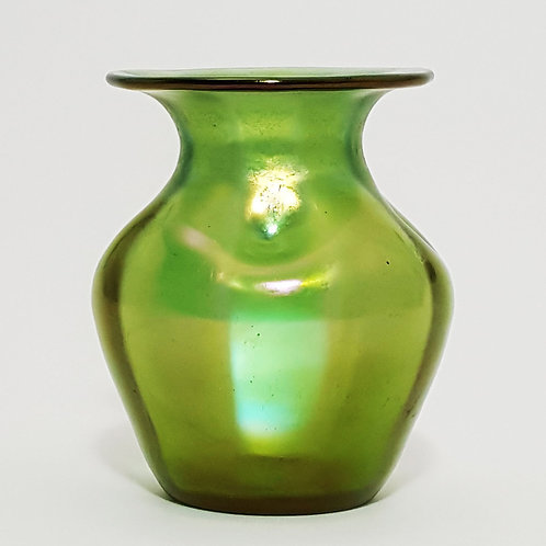 Loetz Crete Glatt Irridescent Glass Vase side view