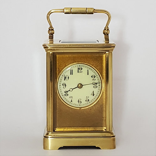 Antique Brass French Cornice Striking Carriage Clock