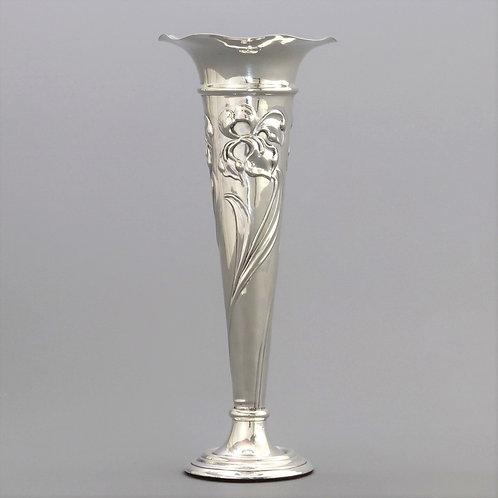 Art Nouveau Sterling Silver Bud Vase by Mappin & Webb