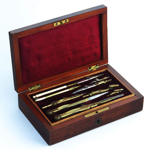 19th Century Boxed Technical Drawing Instrument Set