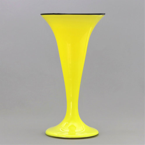 Tall Loetz Yellow Tango Secessionist Glass Vase c1920