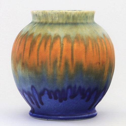 Ruskin Crystalline Drip Glaze Ovoid Vase 1930