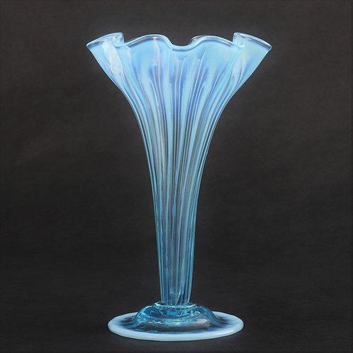 James Powell & Sons Blue Opaline Glass Vase c1890s