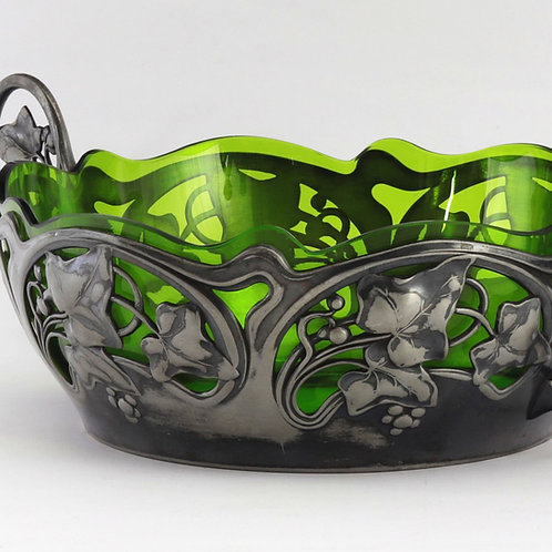 WMF Art Nouveau Bowl with Glass Liner frame detail