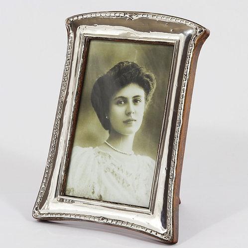 Silver Art Nouveau Easel Photo Frame by S. Lessor & Son 1913