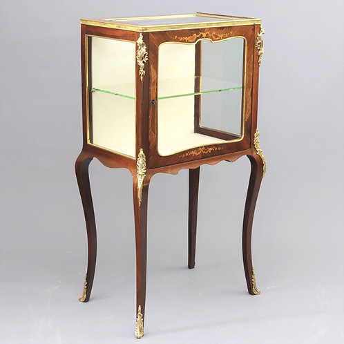 French Inlaid Display Cabinet with Ormolu Mounts c1880