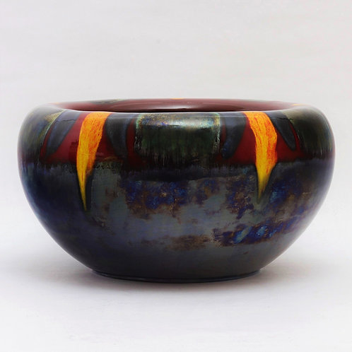 Vintage Poole Pottery 'Infusion' Living Glaze Bowl c1980s