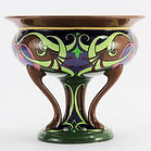 Foley Intarsio Art Nouveau Pedestal Bowl by Frederick Rhead c.1905