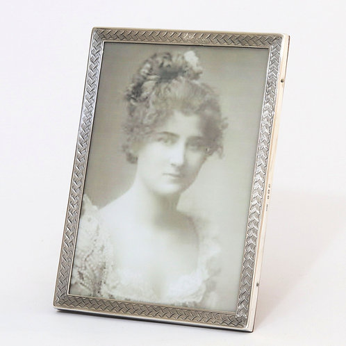 Antique Silver Photograph Frame 1919