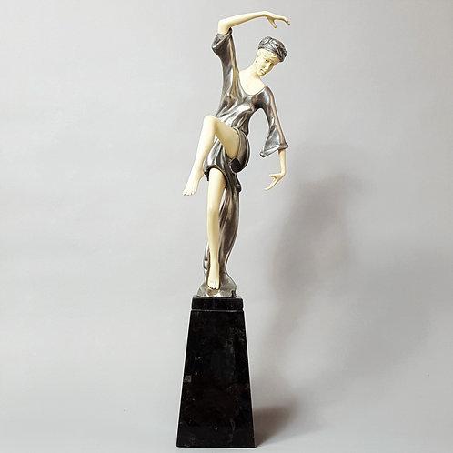 """Etling Figure """"Autumn Dancer"""" after Preiss, signed Etling Paris c1930"""