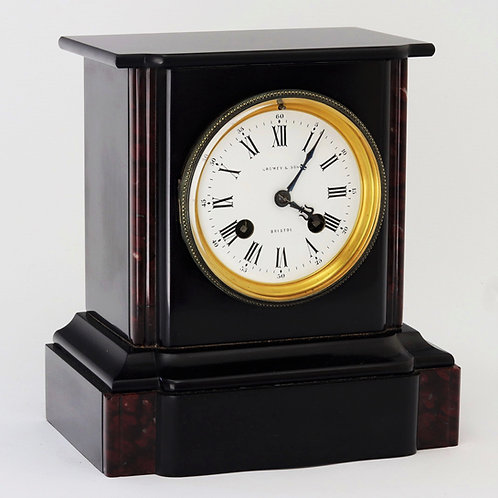 Antique Slate and Marble Mantle Clock