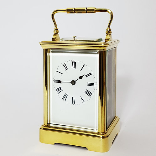 Antique French Brass Striking Repeating Carriage Clock