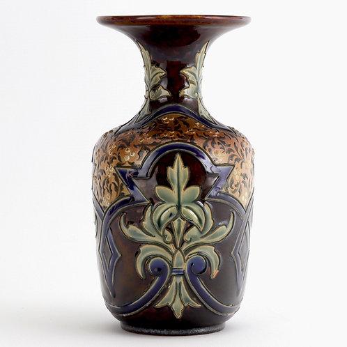 Doulton Lambeth Art Nouveau Vase by Eliza Simmance 1884