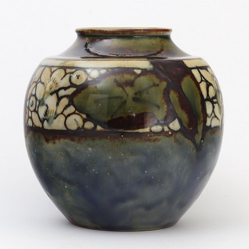 Royal Doulton Stoneware Ovoid Art Deco Vase c1920