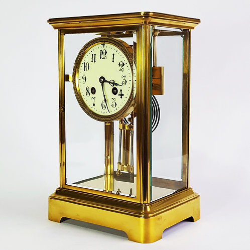 Antique French Four Glass Mantle Clock