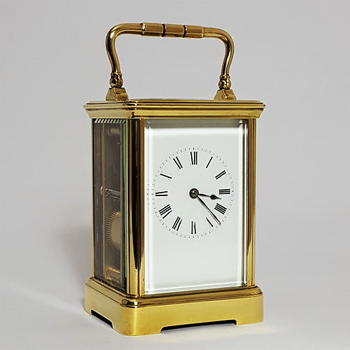 French Brass Striking Carriage Clock by Richard et Cie