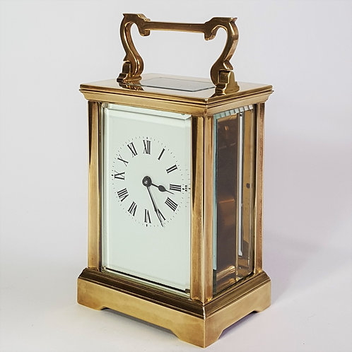 Antique French Brass Anglaise Cased Carriage Clock c1900