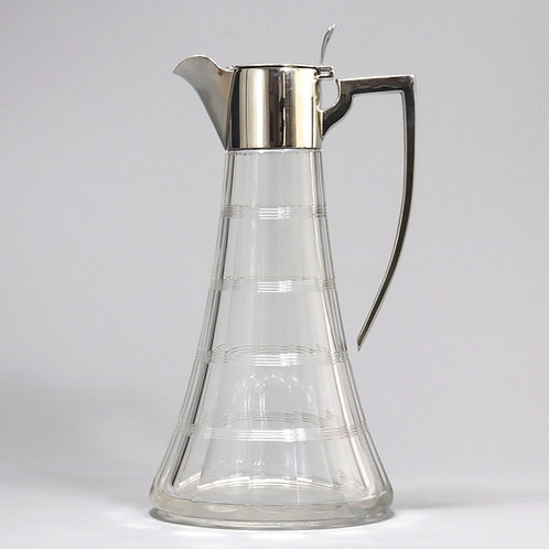 Antique Silver Mounted Claret Jug by William Hutton 1907
