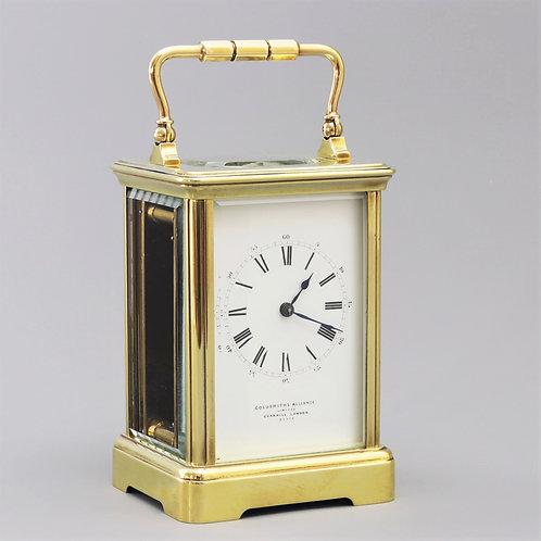 Drocourt Carriage Clock Signed Goldsmiths Cornhill c1895