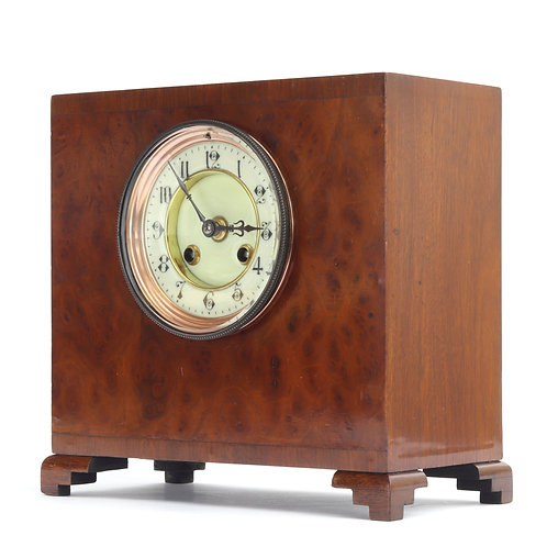 Antique Walnut Cased Striking French Mantle Clock S Marti