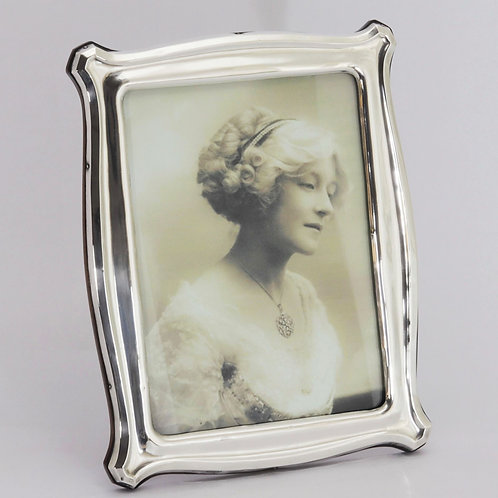 Shaped Silver Photograph Frame Chester 1914