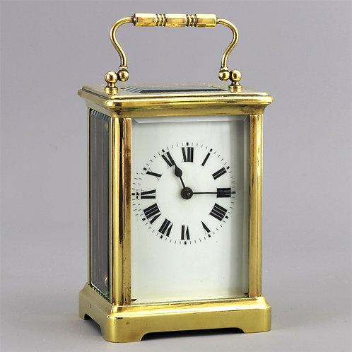 French Brass Corniche Cased Carriage Clock c.1910
