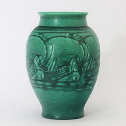 Royal Lancastrian Decorated Vase