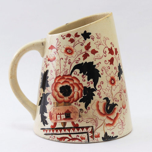 Early Stone China Transfer Decorated Jug c1810