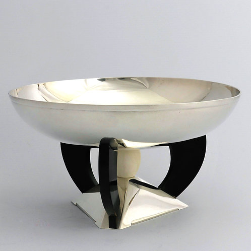 American Art Deco Sterling Silver Tazza Centerpiece Bowl