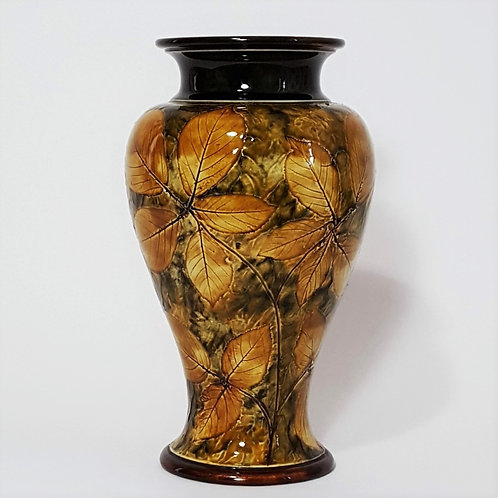 Royal Doulton Natural Foliage Autumn Leaves Vase c1910 (27cm)
