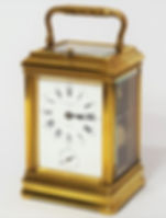 French gorge cased 8-day repeater carriage clock with alarm.