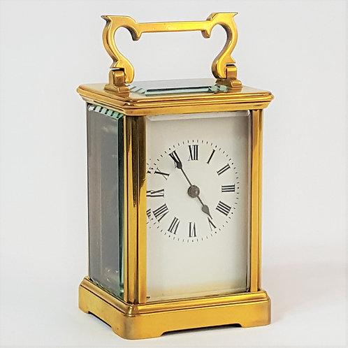 French Brass Corniche Cased Carriage Clock c1900