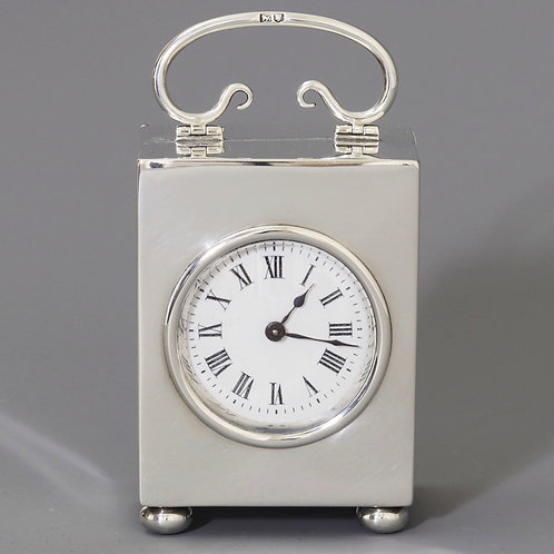 Silver Carriage Clock by W&G Neal London 1906