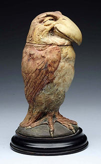Martin Brothers Stoneware Wally Bird Jar