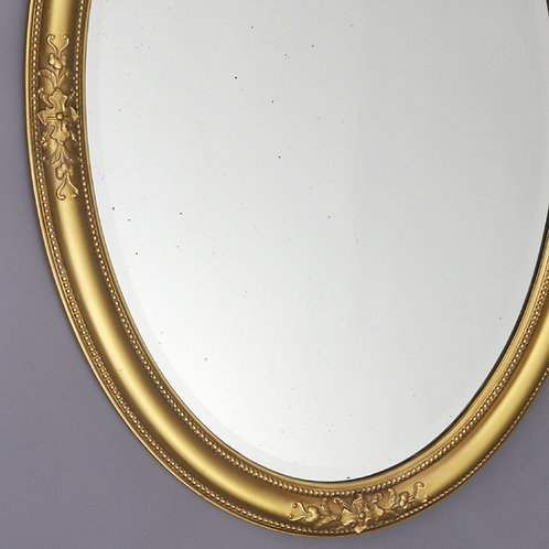 Antique Gilt Oval Mirror with Acanthus Decoration c1880