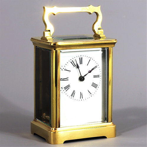 French Corniche Cased Brass Carriage Clock Retailed by Richard & Co c.1875