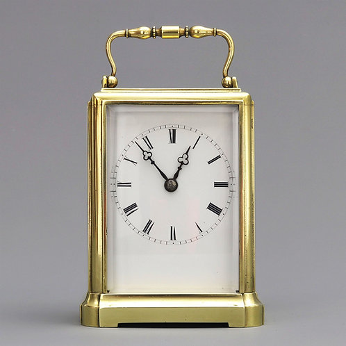 One-Piece Timepiece Carriage Clock by Japy Freres c1860