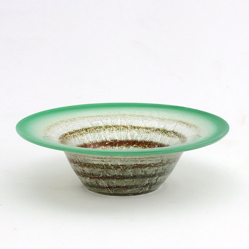 WMF Art Deco Small Ikora Glass Bowl c1930s