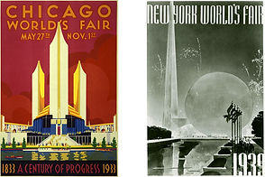 Posters for the Chicago World's Fair 1933 and New York World's Fair 1939.jpg